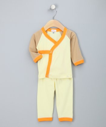 Lemon & Orange Wrap Top & Pants - Infant