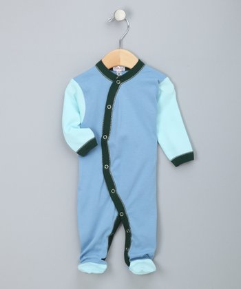 Blue & Hunter Footie - Infant