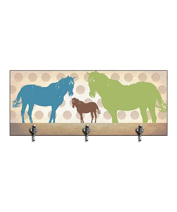 Blue & Green Horse Wall Hook