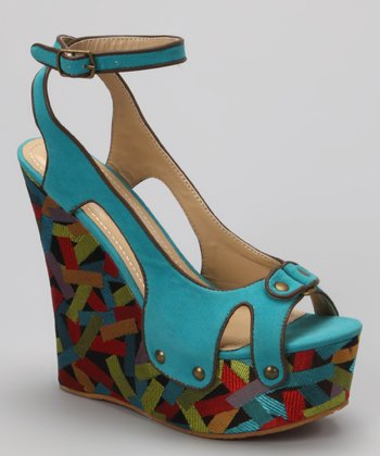 Blue Lea-14 Wedge Sandal