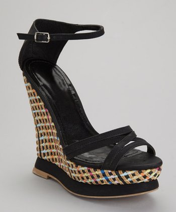 Black Miranda-09 Wedge Sandal