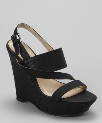 Black Sabia-12 Wedge Sandal