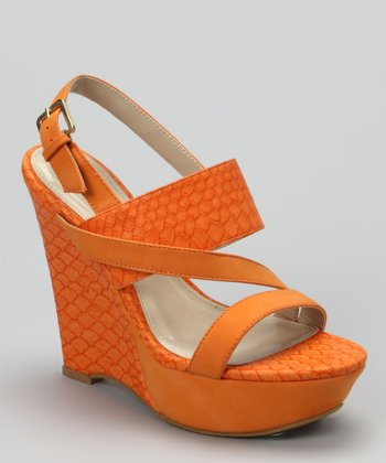 Orange Sabia-12 Wedge Sandal