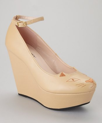 Beige Zena-120 Wedge
