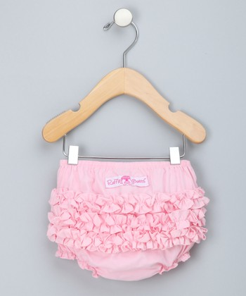 Pink Ruffle Diaper Cover - Infant & Toddler