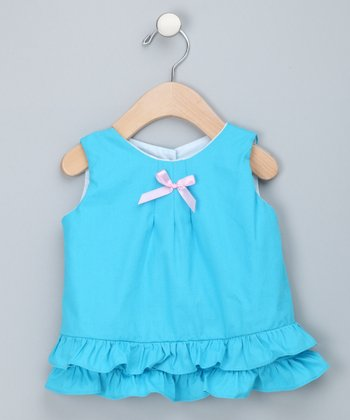 Ocean Blue Ruffle Swing Top - Infant & Toddler