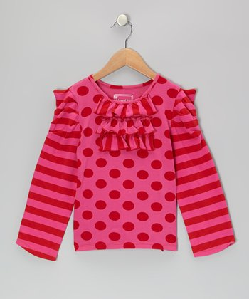 Red & Pink Elizabeth Top - Infant, Toddler & Girls