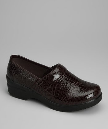 Brown Croco Loafer