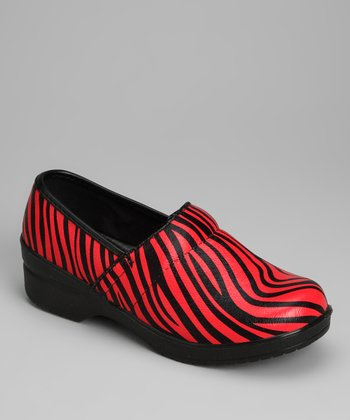 Red Zebra Clog