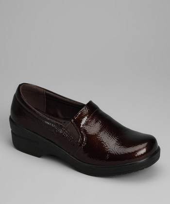 Brown Patent Clog