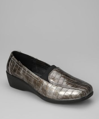 Gray Croco New Loafer