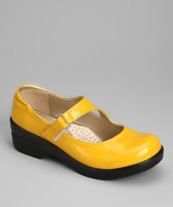Yellow Patent Dannis Mary Jane Clog