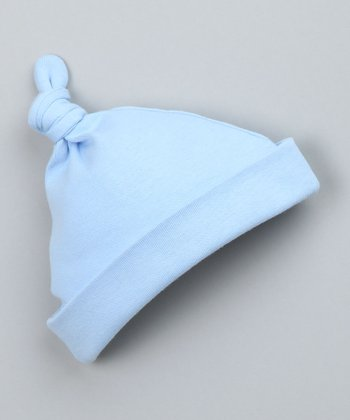 Light Blue Single-Knot Beanie