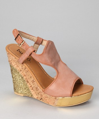 Tan Althea Wedge Sandal