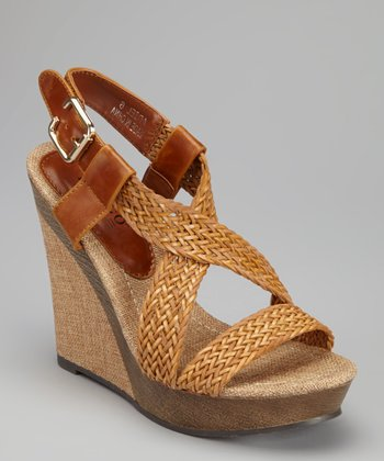 Tan Ariel Wedge Sandal