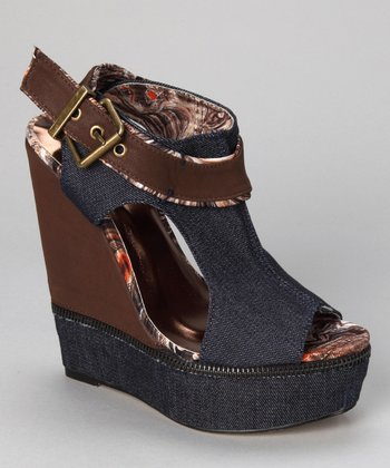 Dark Blue Cadena Wedge