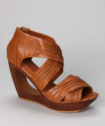 Tan Delphia Wedge Sandal