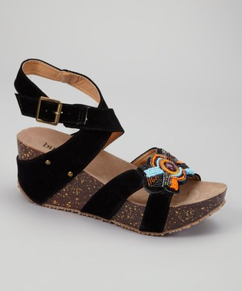 Black Lolo Wedge
