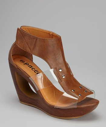 Cognac Parisa Wedge