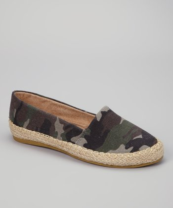 Green Camouflage Ruby Slip-on