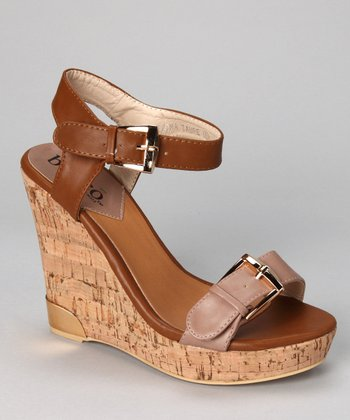 Taupe Severina Wedge Sandal