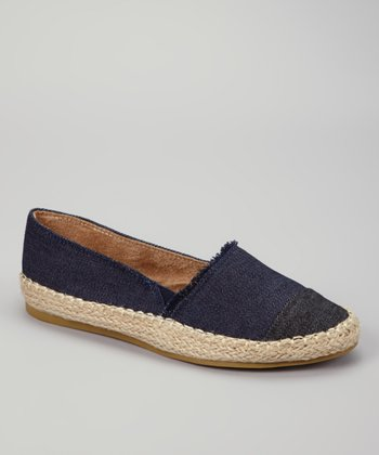 Blue Denim Teak Slip-on