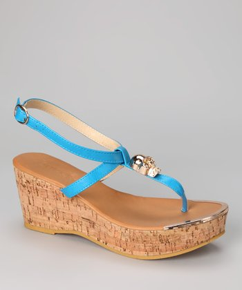 Blue Waverly Wedge