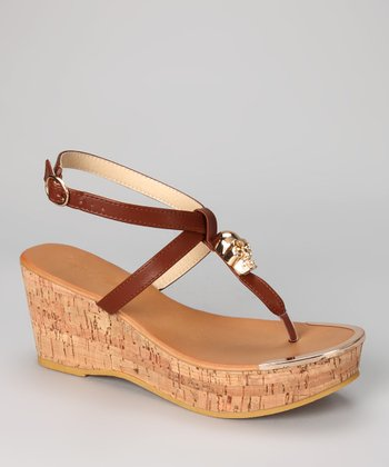 Tan Waverly Wedge Sandal