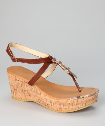Tan Whitley Wedge Sandal