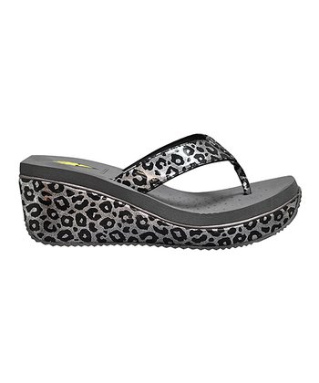 Pewter Nitrite Wedge Sandal