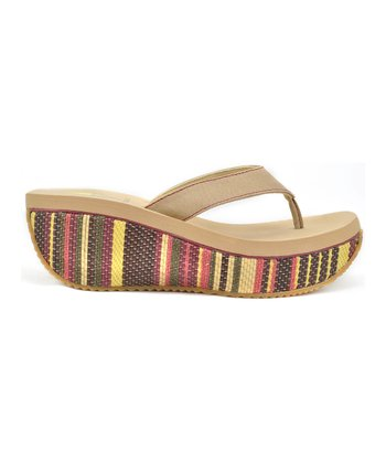 Natural Cancan Wedge Sandal