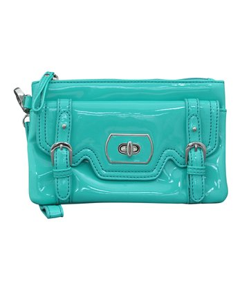 Aqua & Blue Clutch It Wristlet