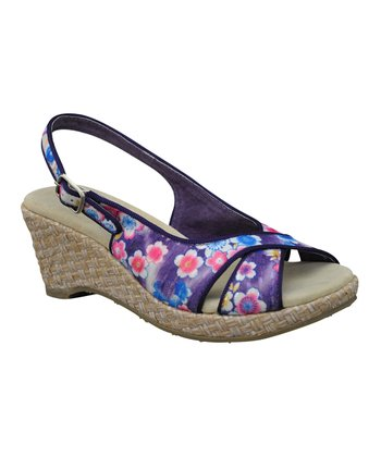 Purple Danelle Wedge Sandal