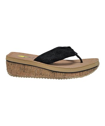 Black Eyelee Wedge Sandal