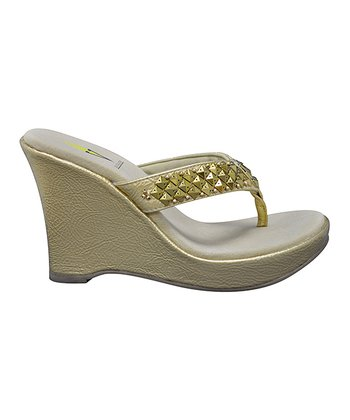 Gold Fatale Wedge