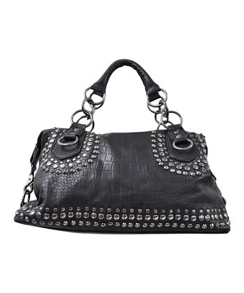 Black Raylee Satchel
