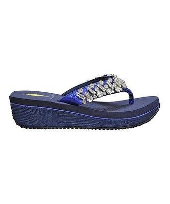 Navy Still Water Sandal