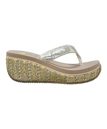 Gold Supashine Wedge Sandal