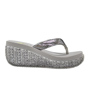 Silver Supashine Wedge Sandal