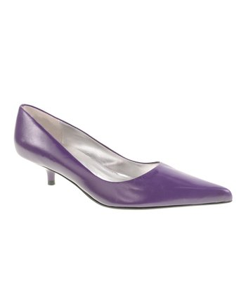 Purple Giggle Kitten Heel