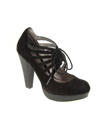 Black Suede Kopin Pump
