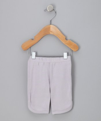 Pink & Gray Organic Stripe Leggings - Infant