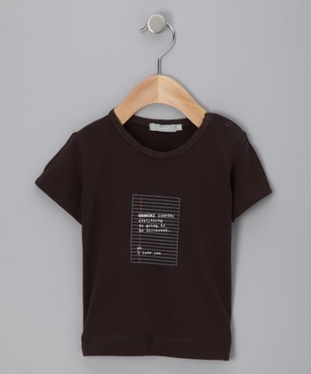 Brown 'Someday' Tee - Infant