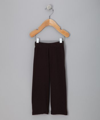 Brown-Black Organic Pointelle Pants - Infant