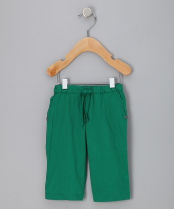 Green Organic Drawstring Pants - Infant &Toddler