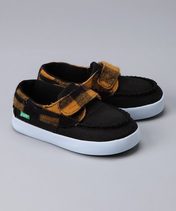 Black & Yellow Flannel Benten Shoe