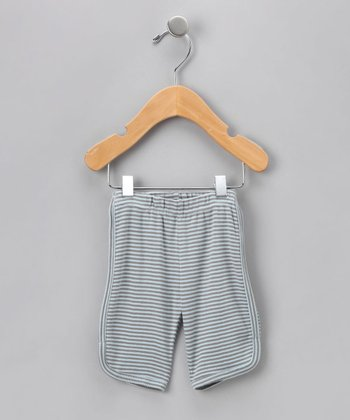Light Blue Stripe Organic Trouser - Infant
