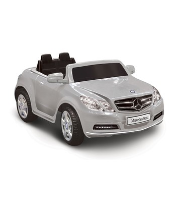 Silver Mercedes-Benz E550 Ride-On