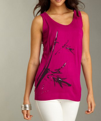 Fuchsia Graphic Layered Tank