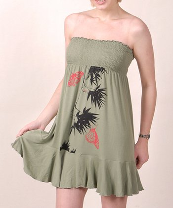 Sage Green Graphic Verao Convertible Dress